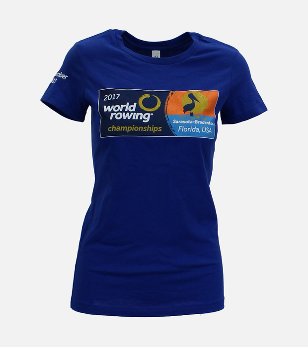 World rowing 2017 t shirt womens