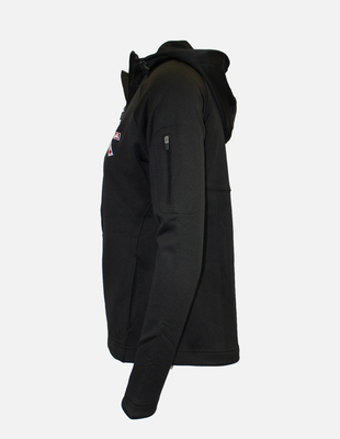 Canada dragonboat zip hoodie womens black side