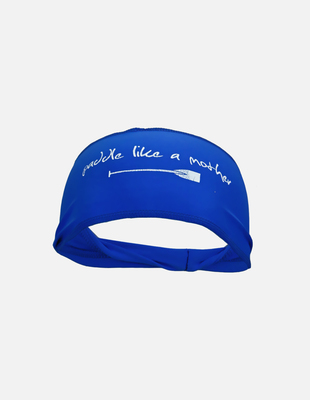 Paddle like mother headband blue