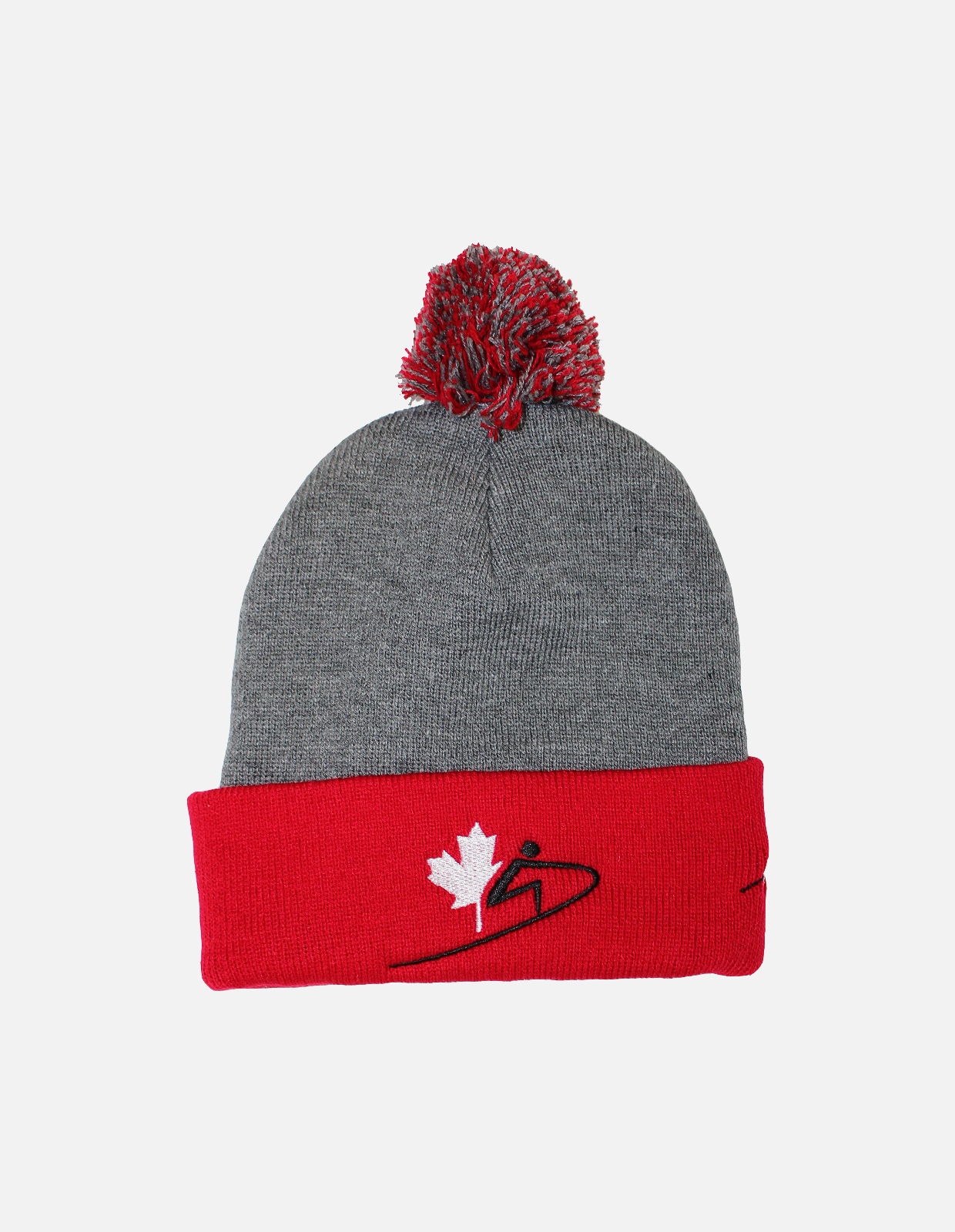 Cura pompom toque   red
