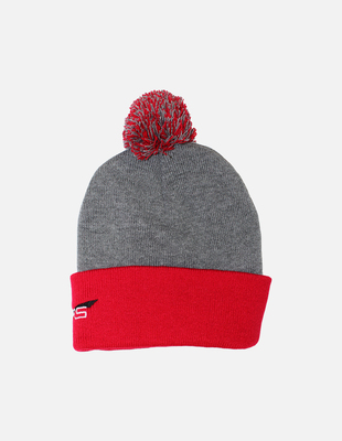 Cura pompom toque   red back