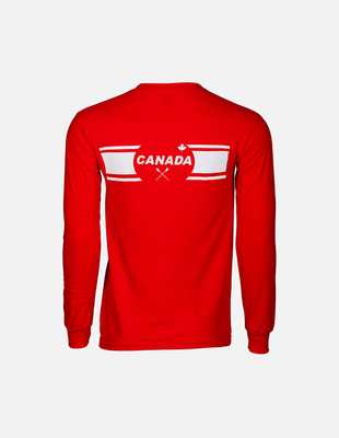 Canada row red longsleeve back