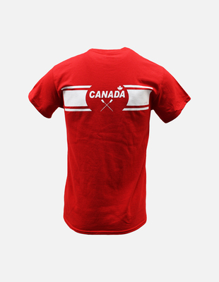 Canada row red shortsleeve back