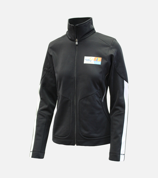 Wr 2017 knit track jacket black womens