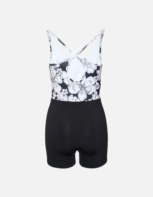 Dash unisuit black flower back