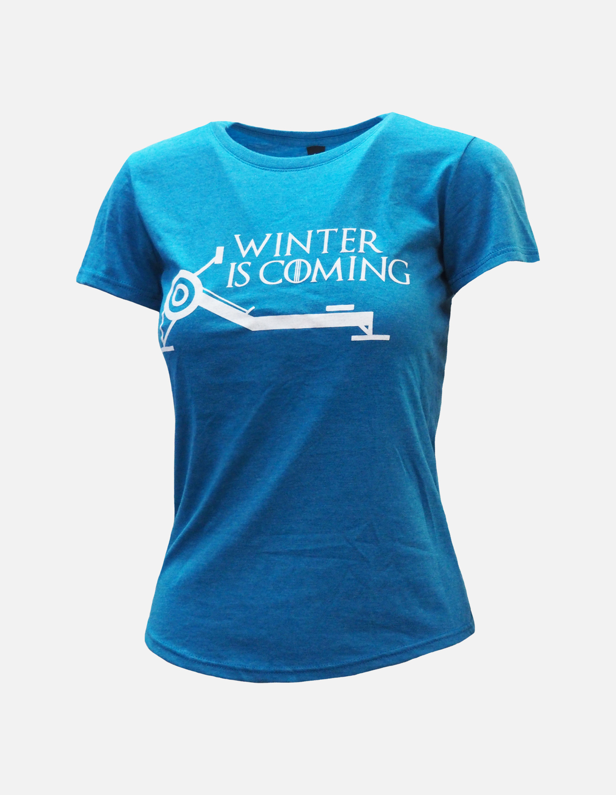Winter is coming tee womens blue