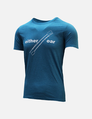 Either oar tee blue