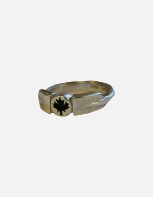 Solid oar leaf wrap ring
