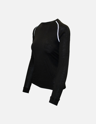 Merino wool womens black