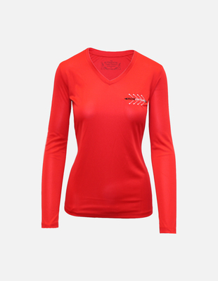 Ro chest logo ls womens