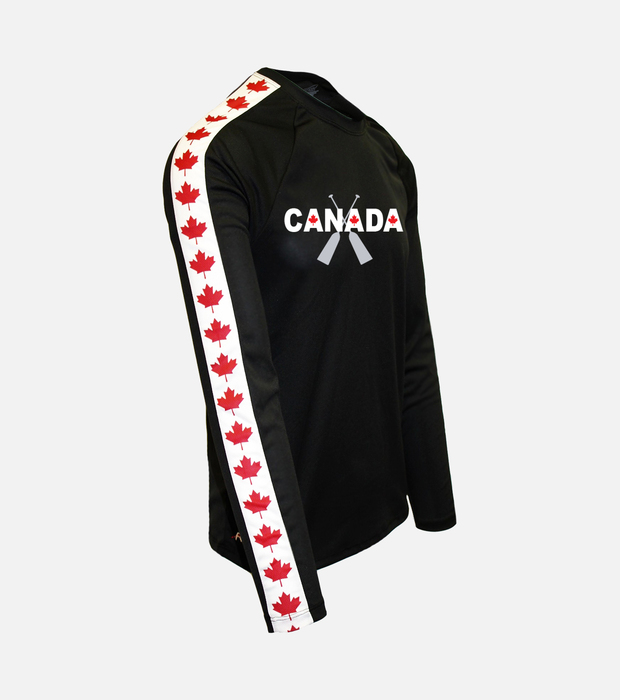 Canada crossed oars db black leaf m