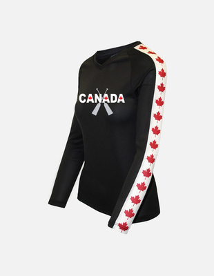 Canada crossed oars db black leaf w