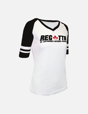 Regatta baseball tee w black